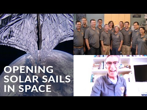 Opening Solar Sails in Space