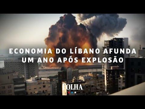 Economia do Líbano afunda quase 1 ano após explosão em Beirute
