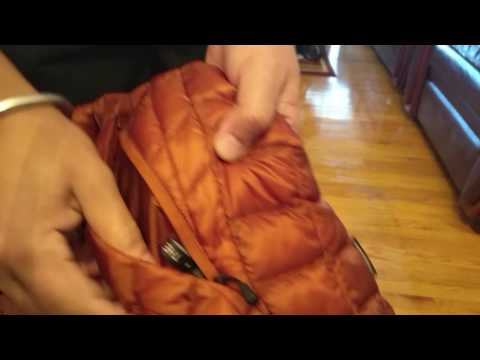 The North face jacket, how to pack!