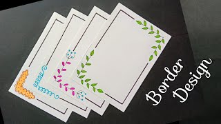 4 Border Designs/Border Designs For Project/Project File Decoration/Border Design For School Project