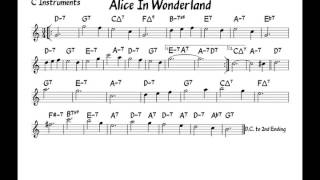 Alice in wonderland - Play along - C version