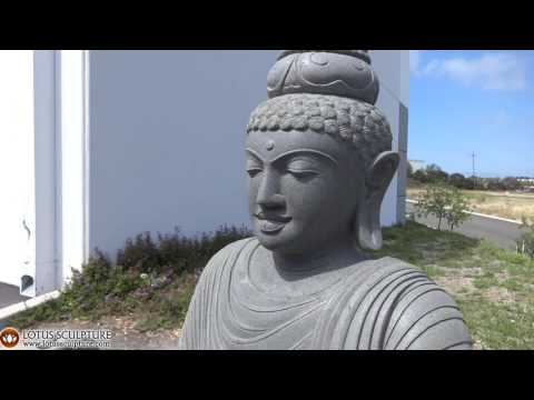 SOLD Stone Awesome Teaching Garden Buddha 65