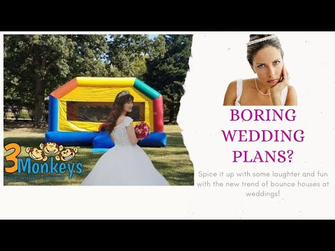 Make your wedding go from boring to fun with a bounce house rental!