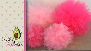 How to Make Tulle Pom Poms! Last Longer Than Tissue Paper Pom Poms! Easy & Fast DIY Puff Balls!