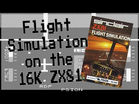 Flight Simulation for the ZX81 from Sinclair Research (1982) #ZX81