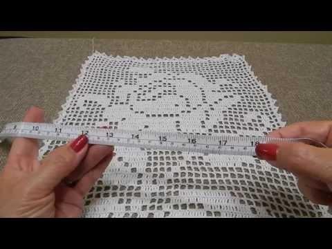 Rosa Rectangular en Crochet