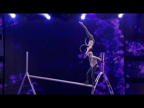 Father-daughter Acrobatic Duo Get More Dangerous On Judge Cut Round America's Got Talent 2018 (видео)