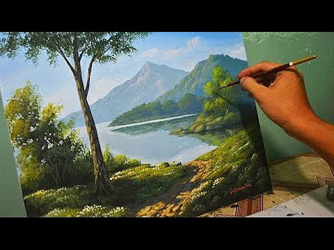 Acrylic Landscape Painting Lesson - Morning In Lake By JmLisondra Mp3