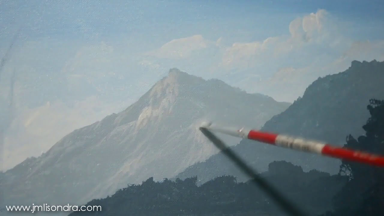 acrylic painting landscape tutorials by john magne lisondra