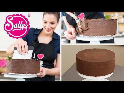 Torten glatt streichen mit Ganache / Sallys Basics / Motivtorten / How to / Sallys Welt