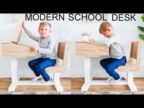 DIY Kid's School Desk