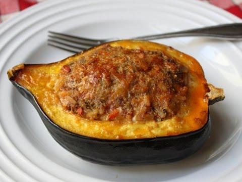 Sausage & Rice Stuffed Acorn Squash Recipe – Squash Stuffed with Lamb Sausage & Rice