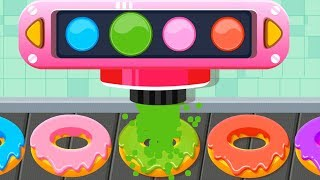 Baby Pandas Cafe - Fun Kids Kitchen Cooking Games - Baby Bus Learn Colors Cooking For Children