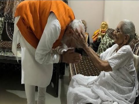 PM Modi Relishes Birthday Lunch With Mother At Her Gandhinagar Residence