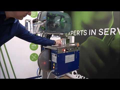 Elastobinder: Machine aanzetten
