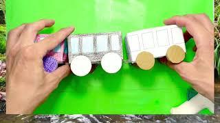 電車のペーパークラフト工作作り方動画
