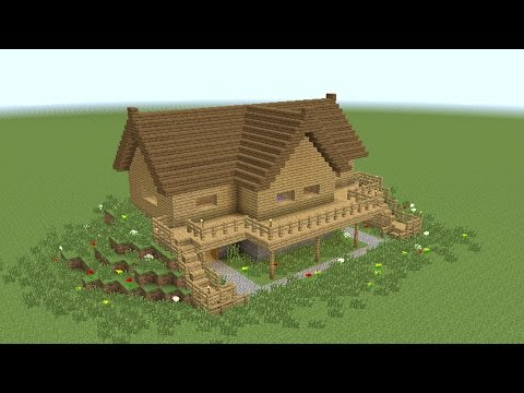 how to build wooden mansion minecraft