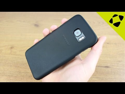 Official Samsung Galaxy S7 Edge Leather Cover Case Review - Hands On