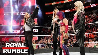Ronda Rousey confronts Asuka, Alexa Bliss and Charlotte Flair: Royal Rumble 2018 (WWE Network) - Video Youtube