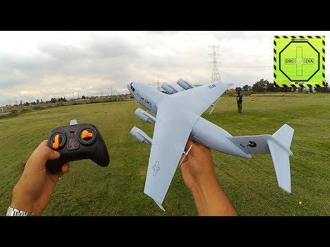 Avion C-17 de R/C para aprender a volar  Review en español |DRONEPEDIA