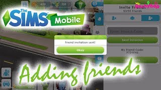 The Sims Mobile: Adding friends to your list