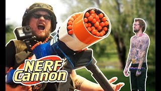 Savage NERF Cannon! - A Jarppi Show Infomercial | Dudesons