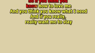 if you think you know how to love me Smokie  mizo lead vocals lyrics