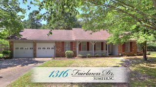 Video Tour of 1316 Fairlawn Dr. in Sumter,SC