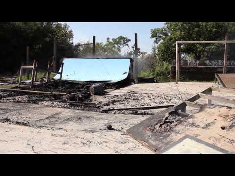 Incêndio destrói obstáculos de skate na Gare
