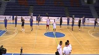 Разминка в баскетболе - сборная России