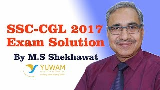 SSC CGL 2017 Exam Solution | English Solution by M. S. Shekhawat | Yuwam Gurukul