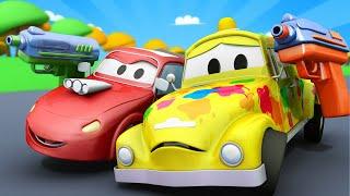 Автомойка Эвакуатора Тома - Малыш Том весь в КРАСКЕ после игры в ПЕЙНТБОЛ - детский мультфильм