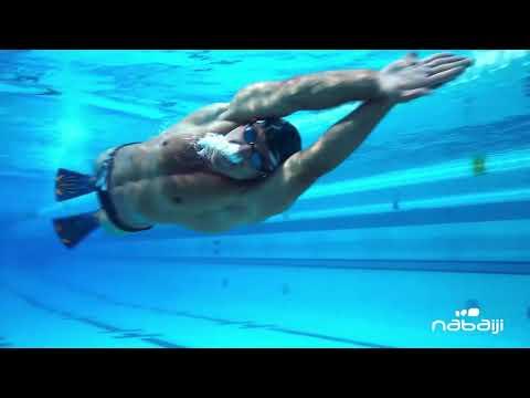 417e91153 Nadadeira de natação com pala comprida e rígida Topfins Nabaiji - Exclusividade  Decathlon