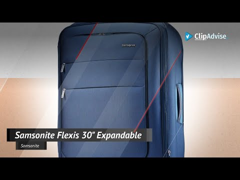 Samsonite Flexis Expandable Softside Checked Luggage With Spinner Wheels, 30 Inch, Carbon Blue