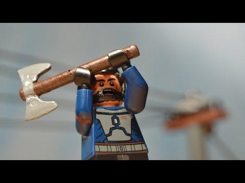 LEGO The Walking Dead Jerry saves king Ezekiel
