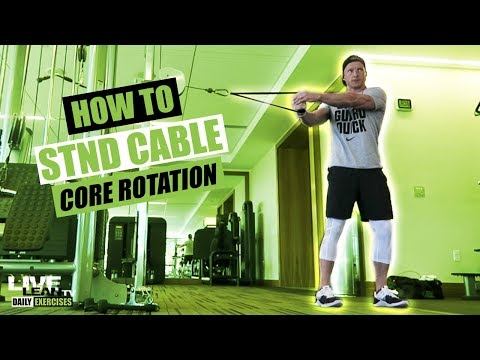 How To Do A STANDING CABLE CORE ROTATION | Exercise Demonstration Video and Guide