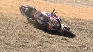 Alex Lowes crash at Laguna Seca -- Race 2