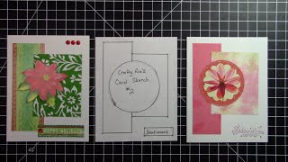 Card Sketch Challenge #2 Plus A Recycled Christmas Card