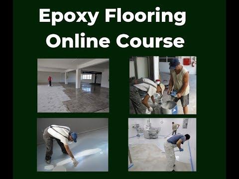 Learn Epoxy Floors Online Course - YouTube