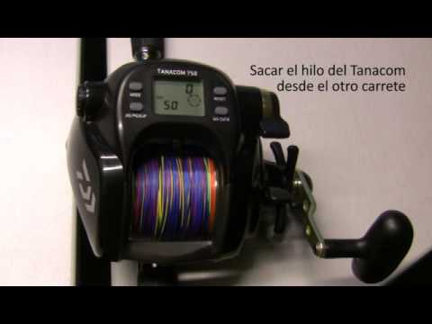 Carrete eléctrico Daiwa Tanacom : Cómo parametrizar el contador