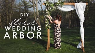 DIY WOODEN ARCH - PERFECT FOR WEDDINGS!