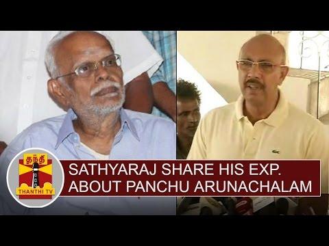 Actor-Sathyaraj-shares-his-experience-about-Panchu-Arunachalam-Thanthi-TV