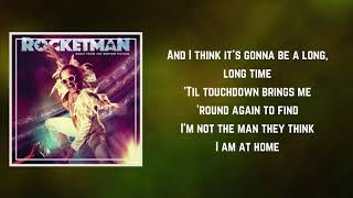 Taron Egerton   Rocket Man (Lyrics)