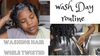 How To Wash 4c Natural Hair While In Twist | Wash Routine| 4 Type Hair