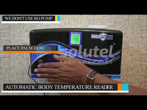 Automatic Hand Sanitiser With Inbuilt Infrared Thermometer For Taking Body Temperature