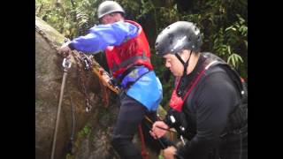 preview picture of video 'Canyoning outside Banos Ecuador on March 30, 2014'