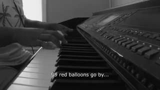 99 Red Balloons- Sleeping At Last Version w/Lyrics (Piano Cover by Jen Msumba)