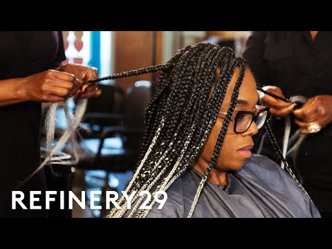 I Got Grey Ombre Box Braids For The First Time | Hair Me Out | Refinery29