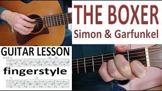 THE BOXER - Paul Simon fingerstyle GUITAR LESSON