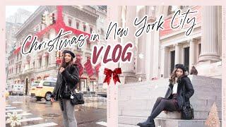 CHRISTMAS TIME IN NYC- New York City Vlog December 2019 I Dizzybrunette3